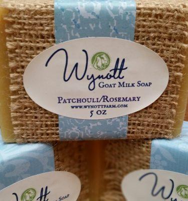 Patchouli/Rosemary Goat Milk Soap from Wynott Farm